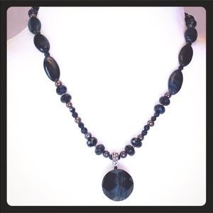 Sterling and Tiger Eye Necklace